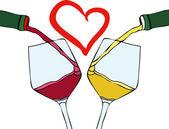 Me encanta el buen vino — Vector de stock
