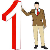 The Number One — Stock Vector