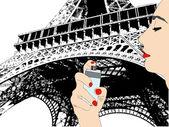 The Perfume of Paris — Stock Vector