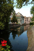 A view of the canals of Strasbourg - France — Stock Photo