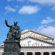 Statue in the Square Theatre in Munich - Germany — Stock Photo