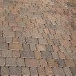 The paving geometric of a sidewalk — Stock Photo