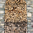 Stock Photo: Wood for winter