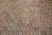 Le pavage géométrique d'un trottoir — Photo