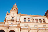 Architecture in the Plaza of Spain - Seville - Spain — Stock Photo
