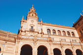 Architecture in the Plaza of Spain in Seville - Spain — Stock Photo