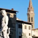 staty av Neptunus - Florens - Italien - 210 — Stockfoto