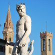 staty av Neptunus - Florens - Italien - 211 — Stockfoto