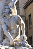 Florence - Signoria Square - Art and beauty - Tuscany - Italy - — Stock Photo