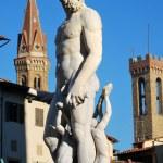 staty av Neptunus - Florens - Italien - 215 — Stockfoto