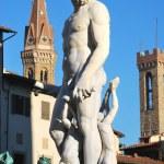 staty av Neptunus - Florens - Italien - 217 — Stockfoto