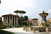City of Rome - The Garden at the Temple of Vesta — Stock Photo