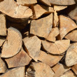 Stock Photo: Stack of firewood for winter