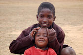 Africa -Tanzania - Village Pomerini - august 2013 - The Franciscan Mission for Humanitarian Aid — Stock Photo