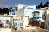 The backyard of a house in Sidi Bou Said in Tunis — Stock fotografie