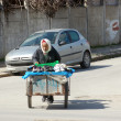 Tunis - Tunisia - 2013 - A hawker of shoes on the streets of Tun — Stock Photo