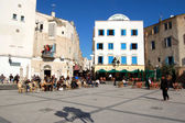 Tunis - Tunisia - 2013 - Daily life in the square of the Medina — Stok fotoğraf