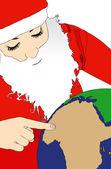The choice of Santa Claus — Stock Photo