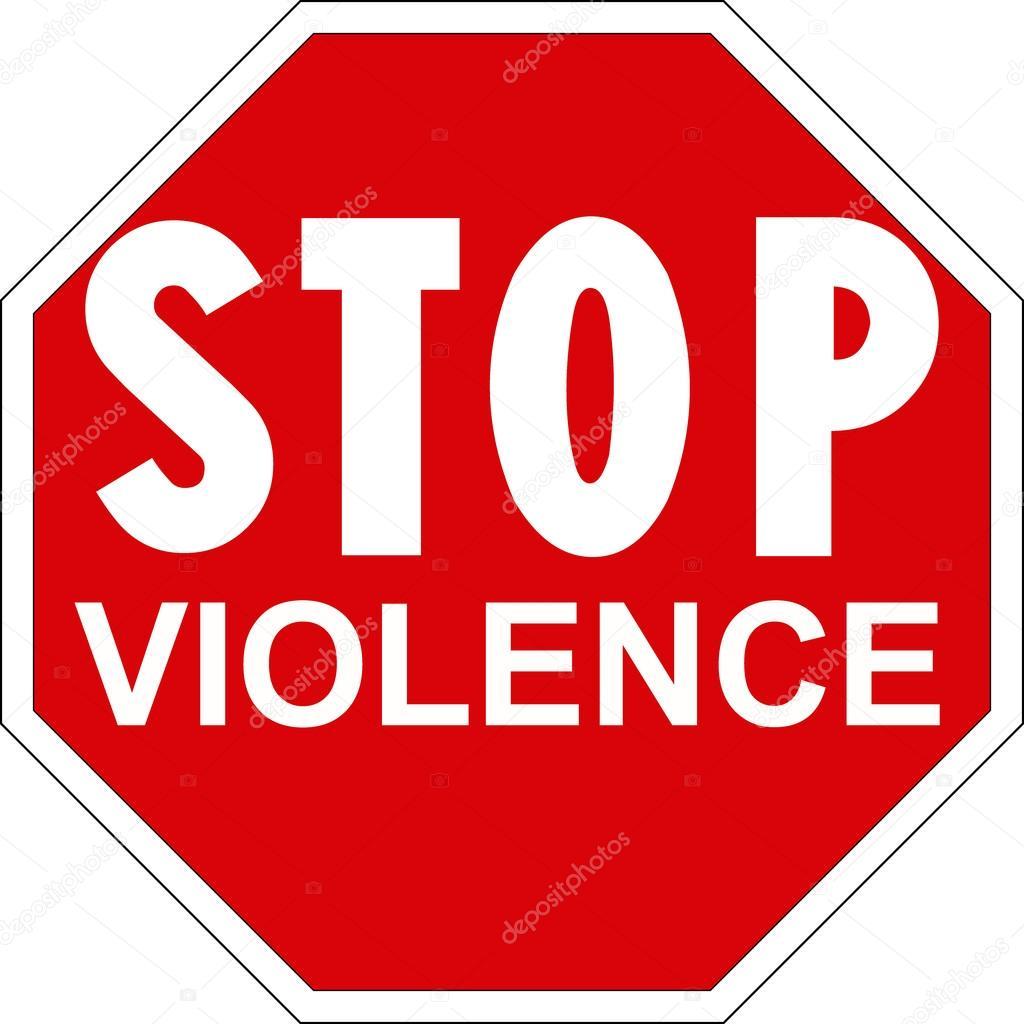 halte la violence image vectorielle 39544201. Black Bedroom Furniture Sets. Home Design Ideas