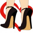 Passion for shoes — Stock Vector #39724023
