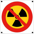 Stock Vector: Prohibition of nuclear radiation