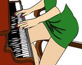 Pianist — Stock Vector