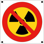 Prohibition of nuclear radiation — Stock Vector