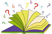 El libro de las preguntas — Vector de stock