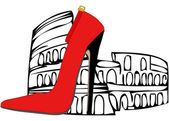 The shoes of Rome — Stock Vector