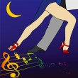 A tango step under a crescent moon — Stock Photo #39938383