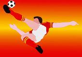 National Football - The Spanish National - The Furia Roja — Stock Photo