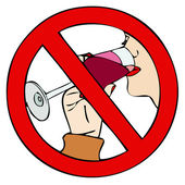 Prohibition of drinking — Stock Photo
