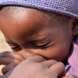 Постер, плакат: The look of Africa on the faces of children Village Pomerini