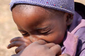 Wygląd z afryki na twarzach dzieci - wieś pomerini — Zdjęcie stockowe