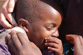 非洲上孩子-村庄 pomerini 的脸上的表情 — 图库照片