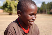 The look of Africa on the faces of children  - Village Pomerini — Stock Photo