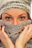 Kobieta w odzieży zimowej — Zdjęcie stockowe