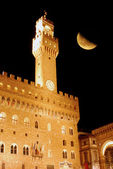 In Florence, on a night with a full moon - Florence - Tuscany - — Stockfoto