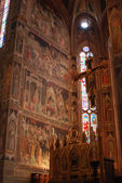 The frescoes in the Church of Santa Croce in Florence-Tuscany-It — Stok fotoğraf