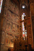 The frescoes in the Church of Santa Croce in Florence-Tuscany-It — Stock Photo