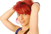 The red-haired girl — Stock Photo