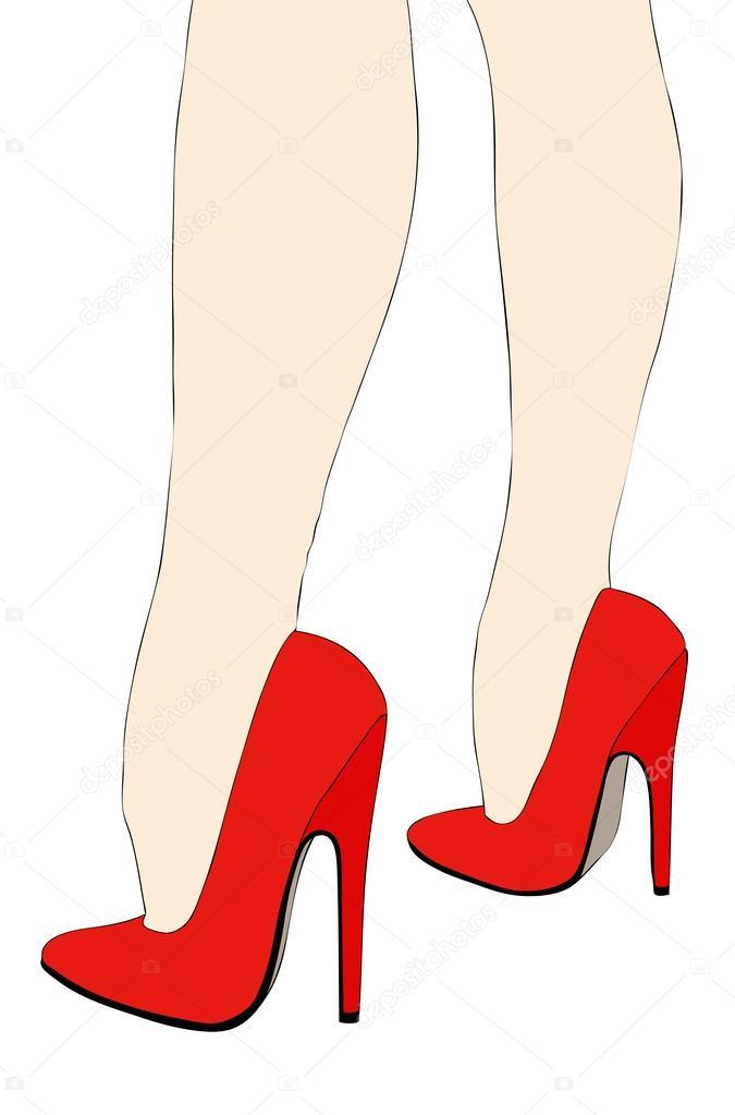sch ne beine in high heels stockvektor 46614079. Black Bedroom Furniture Sets. Home Design Ideas