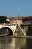 Rome view from the bridge over the Tiber river - Rome - Italy — Stok fotoğraf