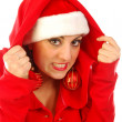 A chilly Santa Claus — Stock Photo #6737842