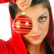 A Christmas decorations announcing — Stock Photo #6737859