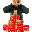 The joy at the gifts — Stock Photo #6747535