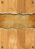 Fond en bois fissurée — Photo