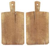 Placa de corte de madeira antiga — Foto Stock