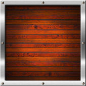 Wood and Metal Frame — Stock Photo