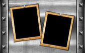 Two Grunge Photo Frames — Stock Photo